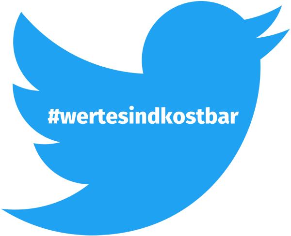 tweeds auf twitter zu #wertesindkostbar